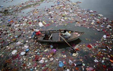 Загрязнение рек в Индии