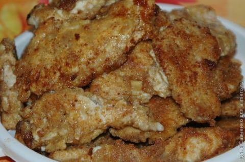 Куриные отбивные в сырном кляре