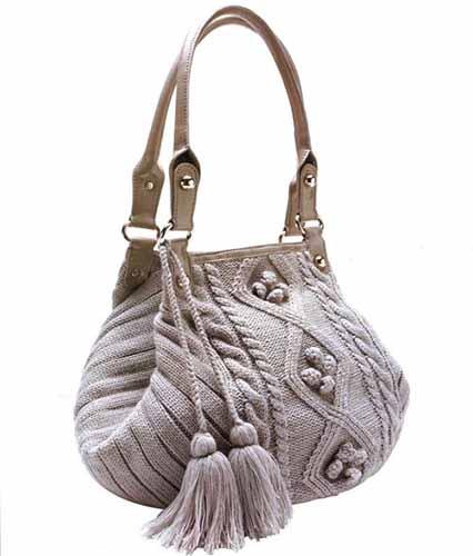 сумочка с объемным узором