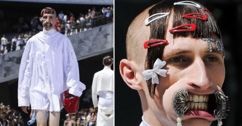 Коллекция «мужской моды», которая заставила зрителей плакать от смеха