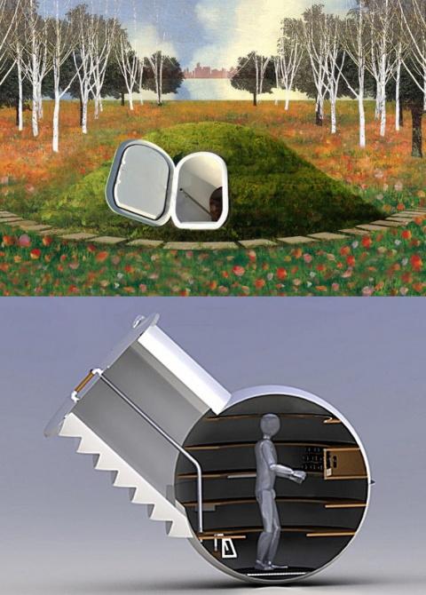 Холодильник под землей или просто погреб