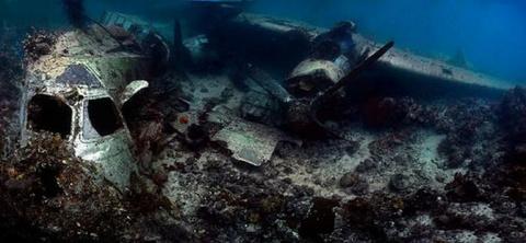 Подводное кладбище военной техники
