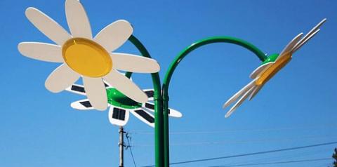 В Грузии появился первый энергоэффективный сквер