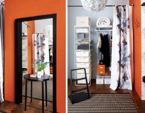 Правильный подход: как на 17-ти кв. метрах расположить гостиную, спальню, столовую, кухню и гардероб!