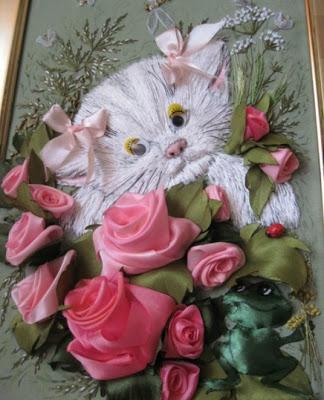 Вышивка лентами от Оксаны Коротич.