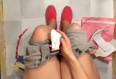 Смываемый экологичный тест на беременность