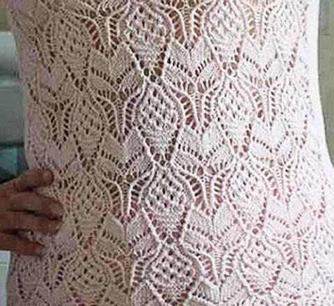 необычный ажурный узор для пуловера