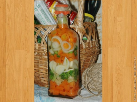 Декоративная бутылочка для кухни. МК