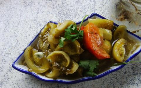 Зеленые помидоры болгарский вариант