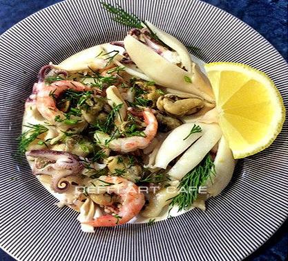 Закуска из морепродуктов в итальянском стиле