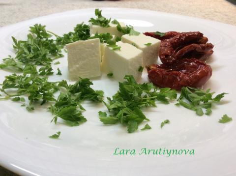 Адыгейский сыр в моем исполнении.