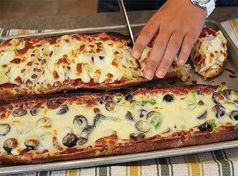 пицца в багете