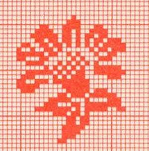 схема одного цветка