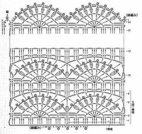 схема вязания узора