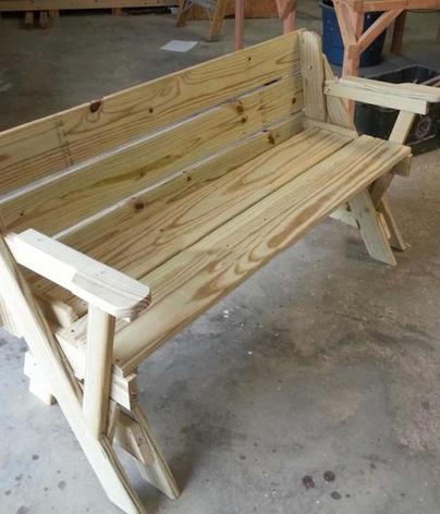 Складной стол-скамья Combo своими руками
