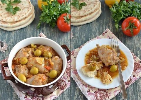 Курица с оливками и  греческ…