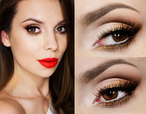Яркий макияж для карих глаз:…