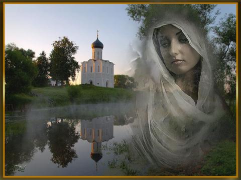 Молитва идущего в церковь, на русском языке.