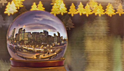 Колин Мика: снежный шар