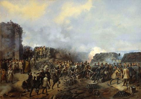 Ветераны Крымской войны 1853-1856 гг. Съемка на Крымском полуострове 1911 года.