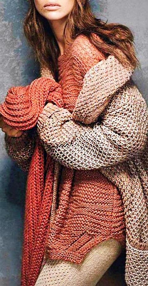 Суперстиль зимнего сезона — вязаная одежда в стиле бохо