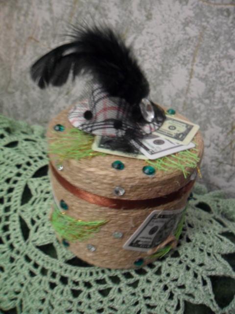 """Баночки """"Деньги в шляпе"""""""