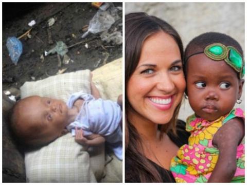 Она нашла младенца в мусоре.…