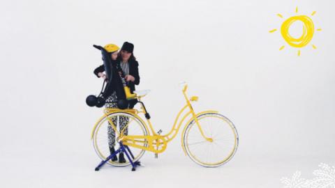Велосипедное сиденье и коляска 2-в-1