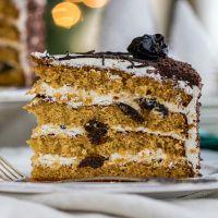 Торт с черносливом и сметанн…