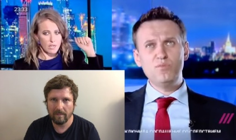 Как Собчак пинала Навального