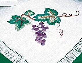 """ВЫШИВАЕМ... салфетку """"Виноградная гроздь"""""""