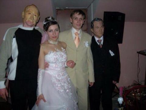 Очень прикольные свадебные фотки