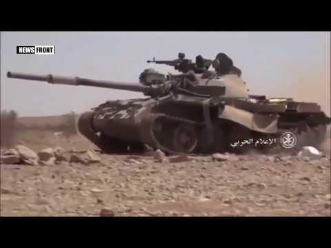 Бои сирийской армии с террористами ИГ на востоке Хамы