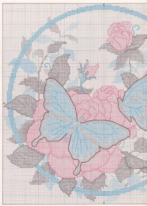 Бабочки на розе.