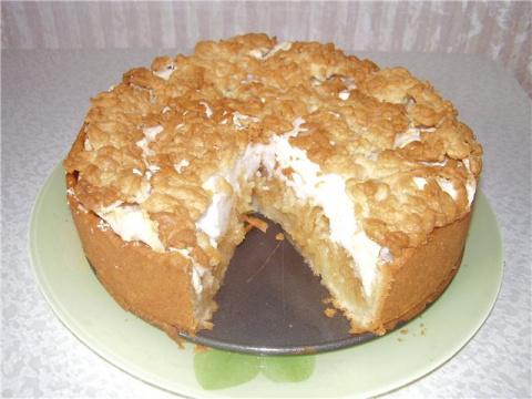Десертный вихрь. Яблочный пирог с безе