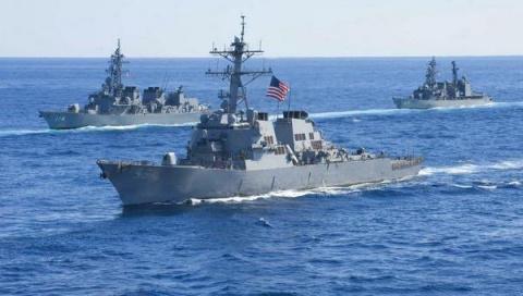 Целая эскадра кораблей НАТО …