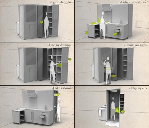 Что даст слияние ванной комнаты и кухни
