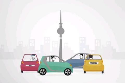 В Берлине водители Smart ForTwo играют в «музыкальные стульчики»