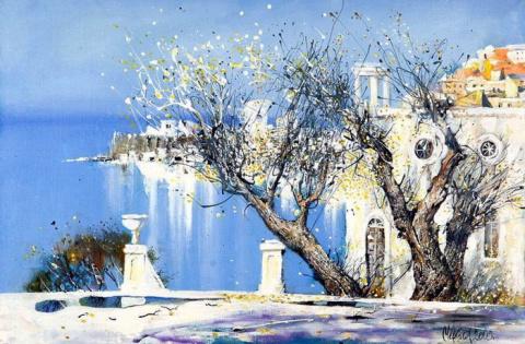 Романтичный Владивосток, художник Сергей Черкасова