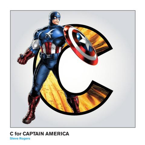 Супергеройсикий алфавит от художника Кевина Реста (Kevin Reste)