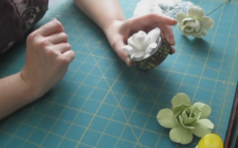 Цветы из само застывающей полимерной глины. Мастер - классы