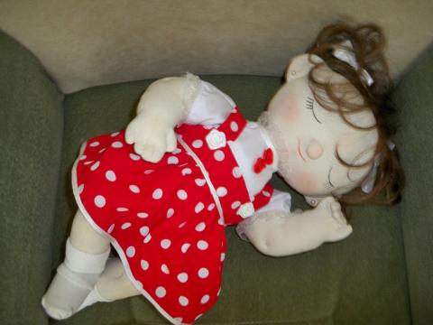 Текстильная кукла Машенька, рост 65 см.