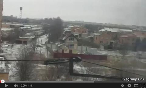 обстрел Краматорского аэродрома - видео от очевидца
