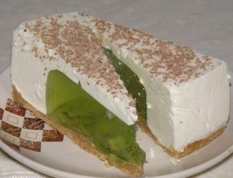 ДЕСЕРТНЫЙ ВИХРЬ. Желейный торт из киви и сметаны без выпечки