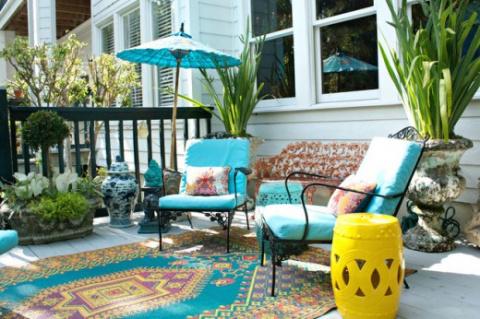 Садовая мода: тропическая бирюза