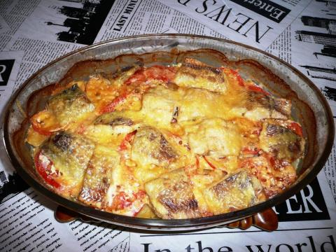 Овощная запеканка с рыбным филе