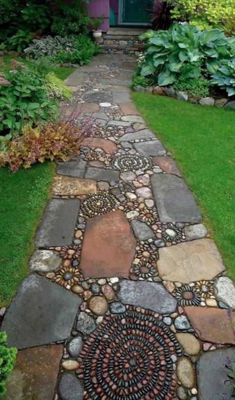 Интересные идеи каменных дор…