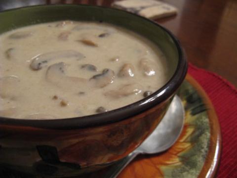 Грибной суп-пюре с пивом