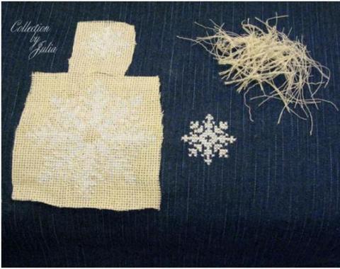 Как вышивать крестиком на очень плотной ткани