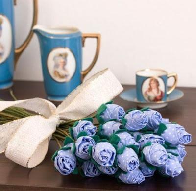 Цветы из ткани. Букет роз. М…
